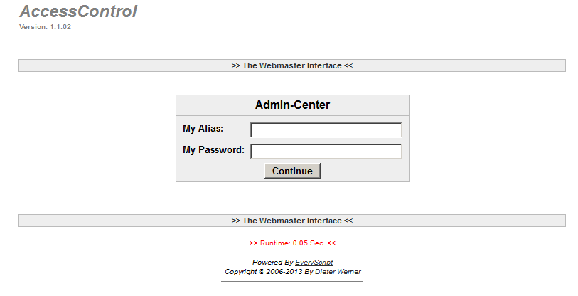 AccessControl Admin Center